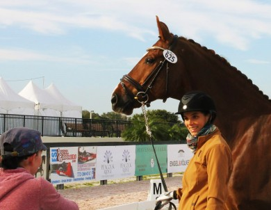 93 - Janine and Naima (with Belafonte) before FEI jog at AGDF 16